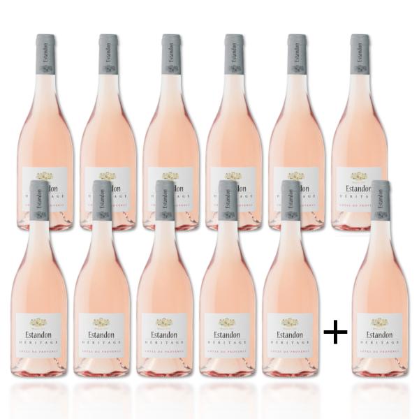 11 + 1 Flasche gratis - Estandon Héritage Rosé 2019