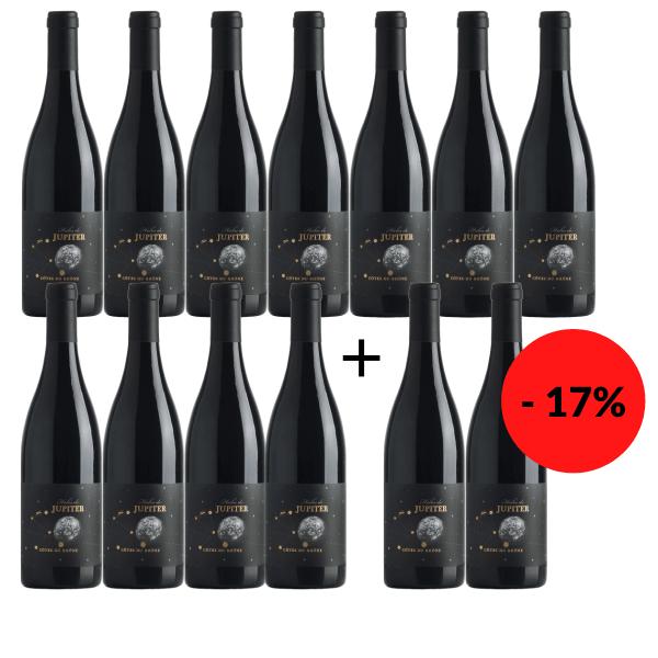 10 + 2 Flaschen gratis - Halos de Jupiter Côtes du Rhône 2015